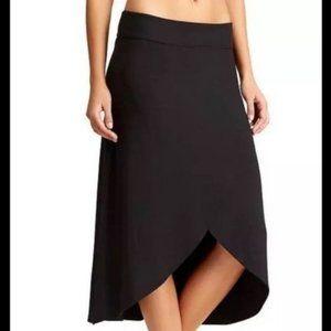 Athleta black wrap skirt size XS